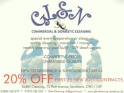 LOCAL CLEANING COMPANY - 20% DISCOUNT INTRODUCTORY OFFER